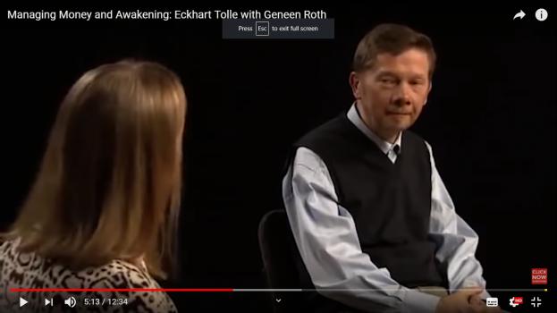 Eckhart Tolle – despre bani si ego (video 3 min)